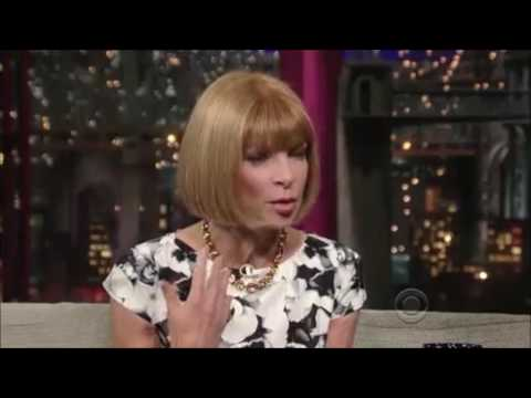 Anna Wintour on the Late Show with David Letterman - August 24, 2009