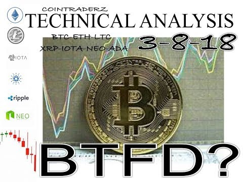ALTCOIN TECH ANALYSIS BTC,ETH,LTC,XRP,IOTA,NEO,ADA 3-8-18 WHERE ARE WE HEADED,BTFD?