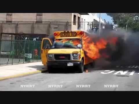 FDNY: Brooklyn:8/10/11 Bus Fire 14 Ave And 43 Street
