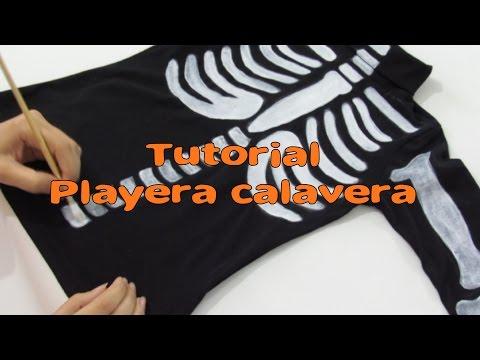 Playera calavera/TUTORIAL DIY