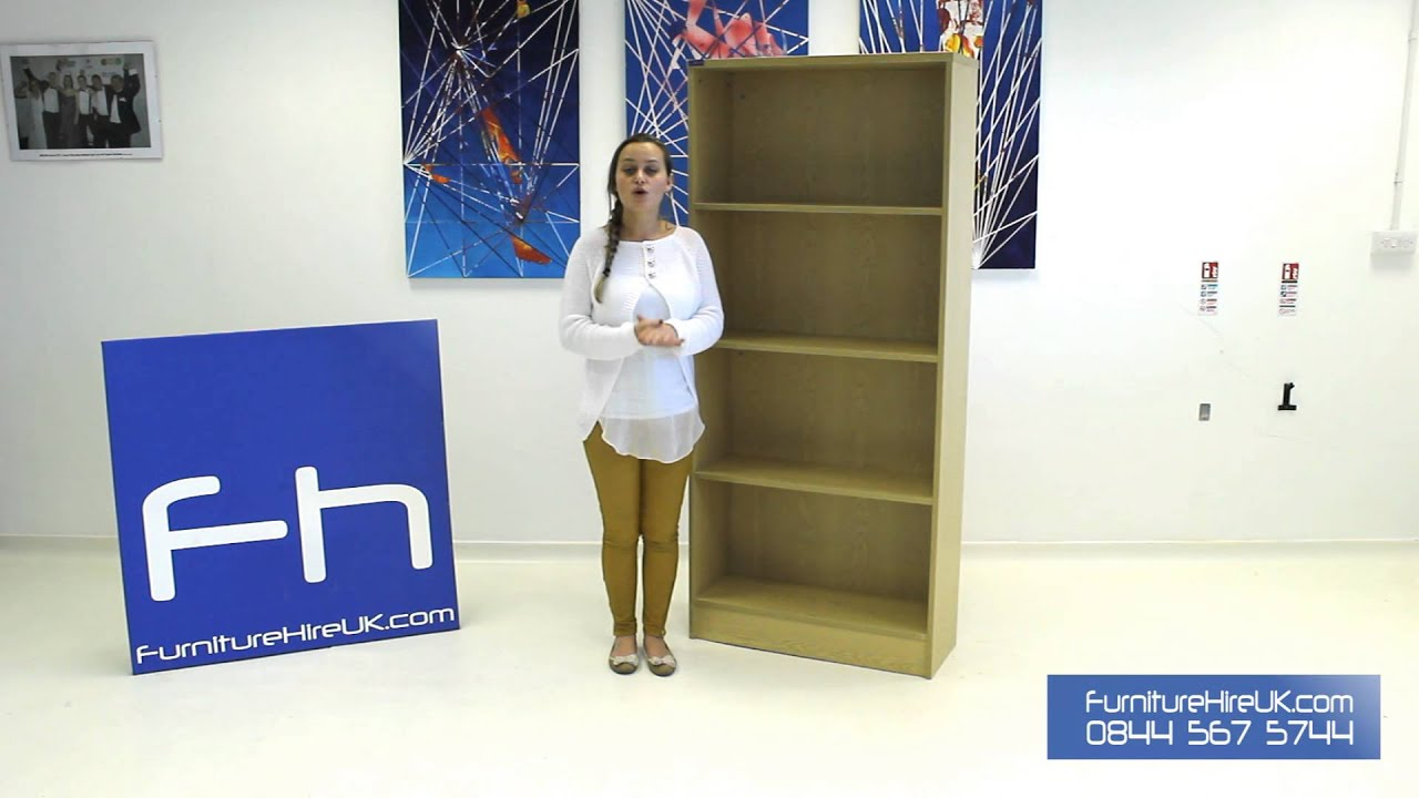 Wooden Bookcase with 3 Shelves Demo - Furniture Hire UK