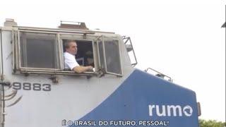 172 km de trilhos que cruzam três estados e levam a carga do Centro-Oeste ao Porto de Santos.