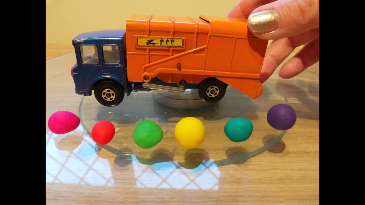 Play Doh Garbage Collected By Toy Lesney Refuse Truck