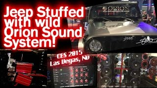 Jeep STUFFED with Orion Sound System - Walk Around - CES 2015 Las Vegas