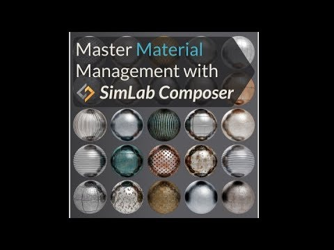 Advanced Material Management in SimLab Composer