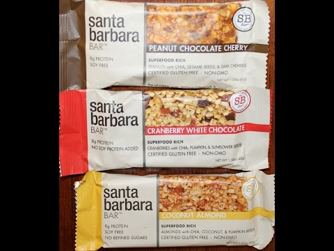 From California: Santa Barbara Bar Peanut Chocolate Cherry, Cranberry & Coconut Almond Review