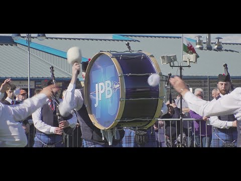 Johnstone Pipe Band at the 2018 Gourock Highland Games