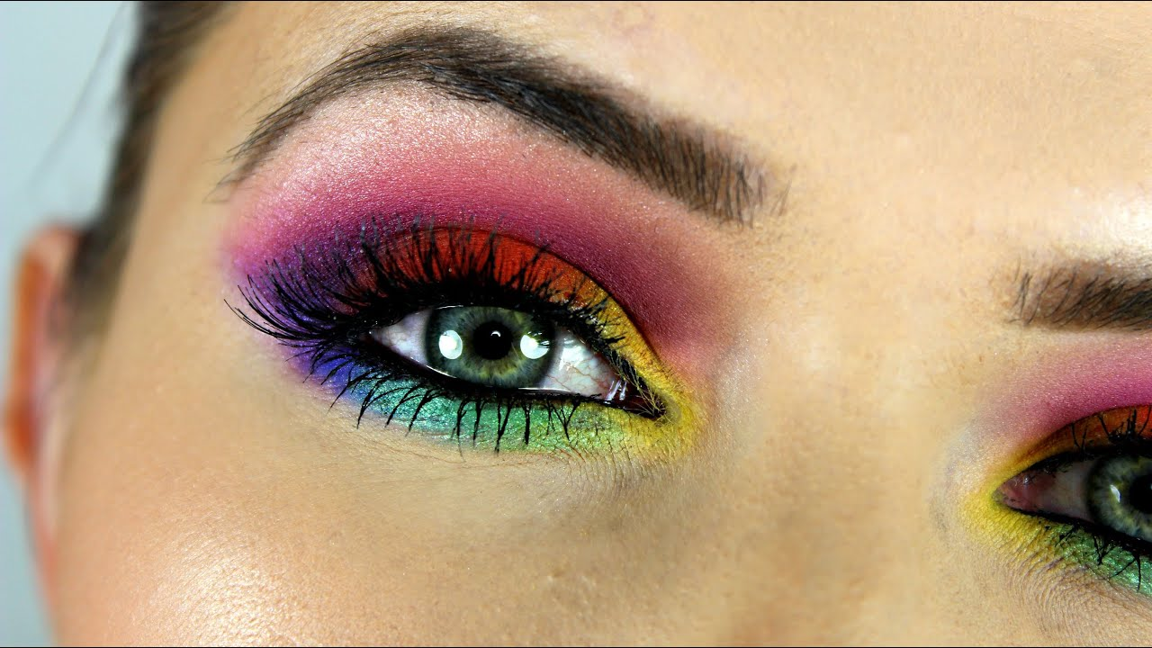 Rainbow Eye Makeup Tutorial; So...? Ready For Summer