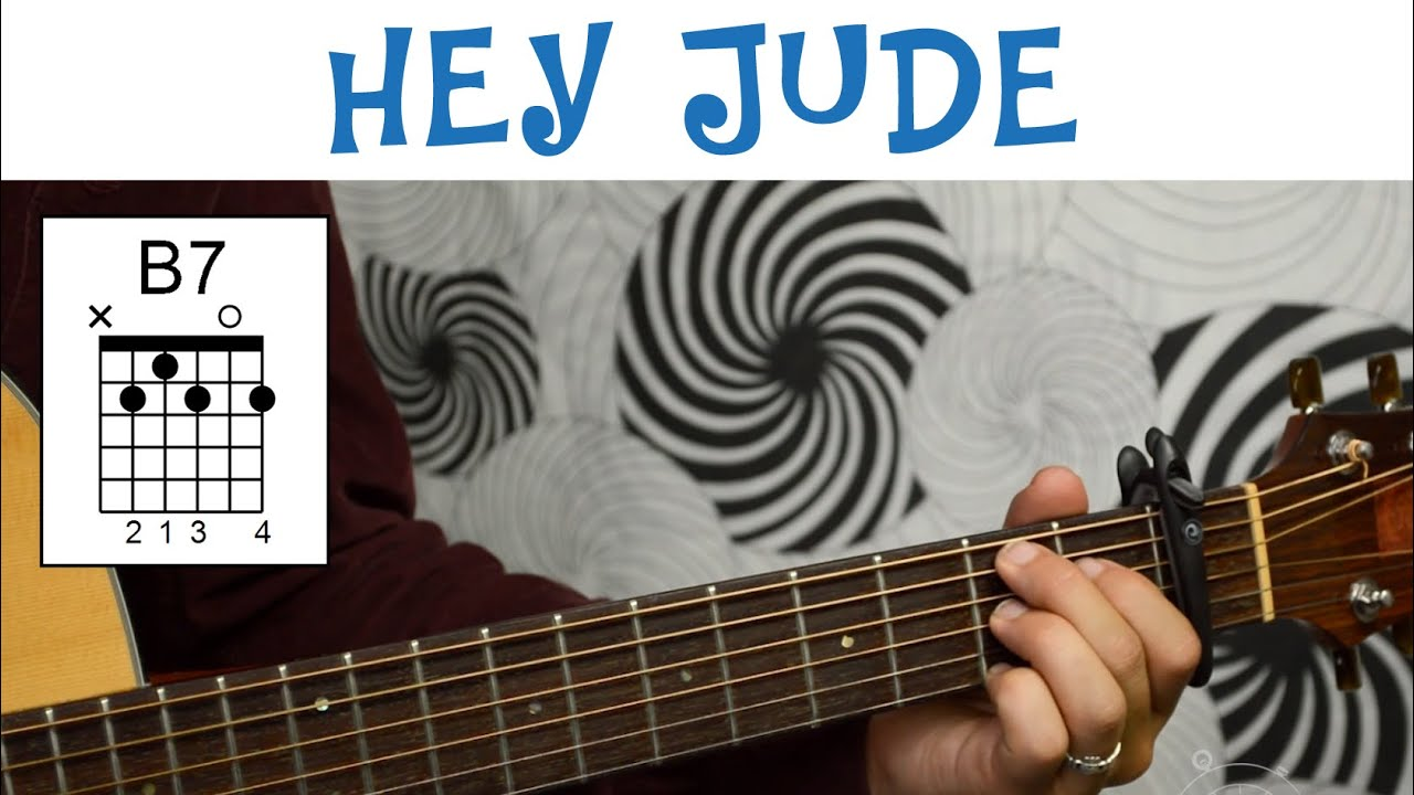 Hey Jude The Beatles Easy Guitar Tutorial Basic Chords And