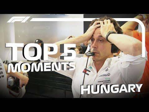 Top 5 Moments | 2018 Hungarian Grand Prix