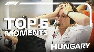 Top 5 Moments   2018 Hungarian Grand Prix