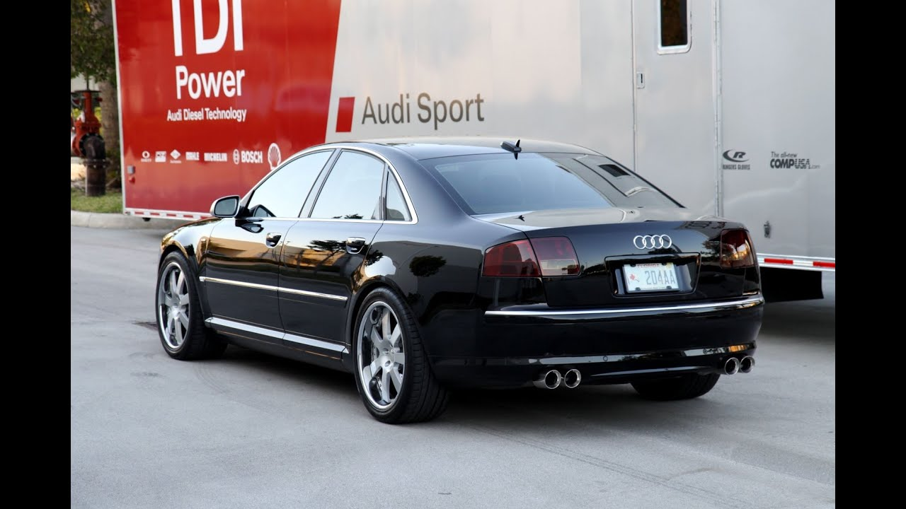 Loud Audi A8 Exhaust Sounds Brutal Accelerations And Revs