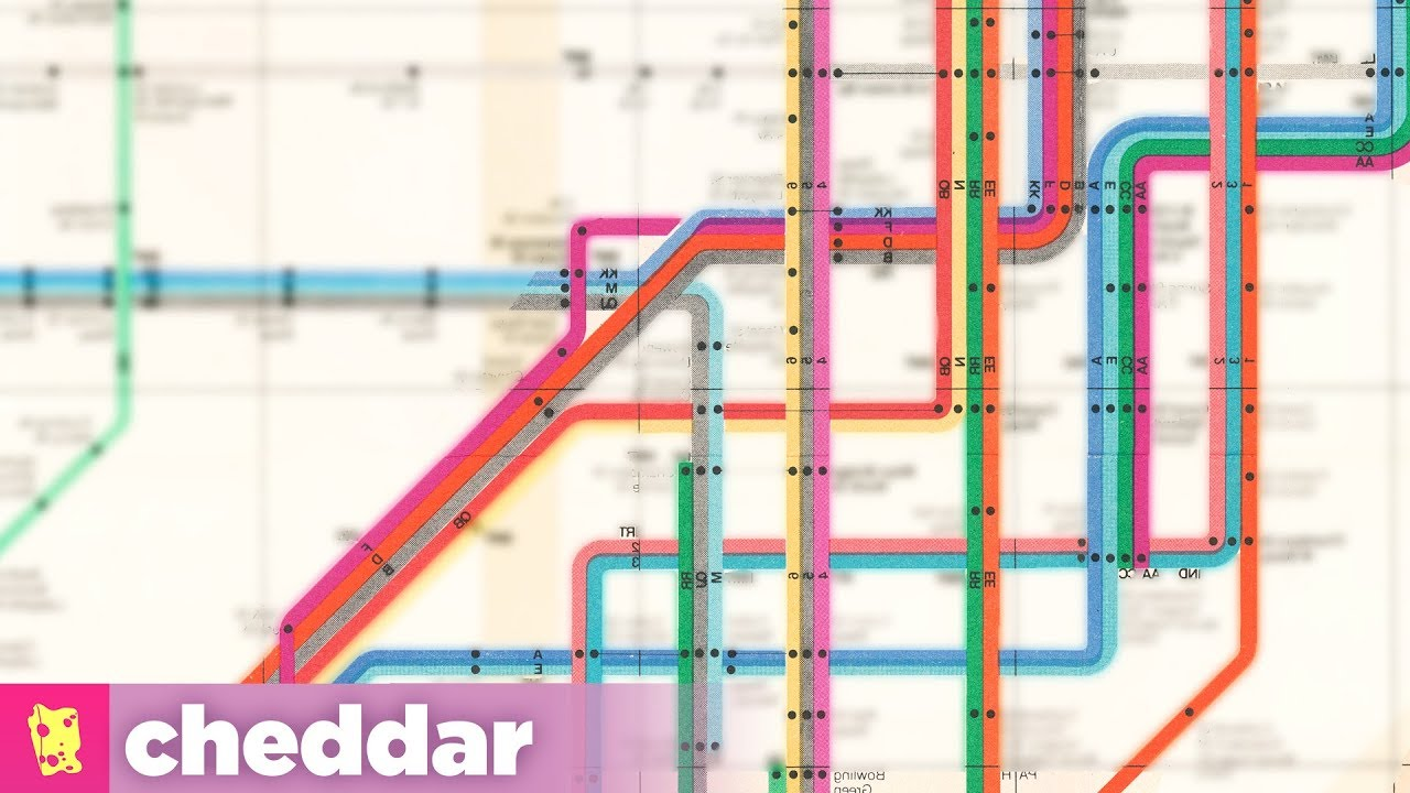 Ny York Subway Map.Why New Yorkers Insisted On A Worse Subway Map Cheddar Explains