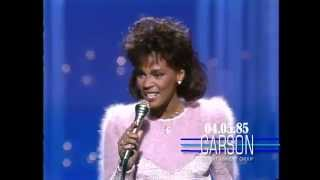Whitney Houston sings You Give Good Love on The Tonight Show Starring Johnny Carson