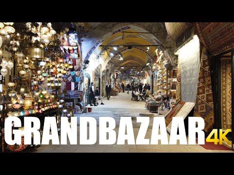 Grand Bazaar, Istanbul walking tour 4k 60fps