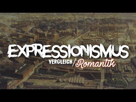 EXPRESSIONISMUS - Vergleich zur Romantik