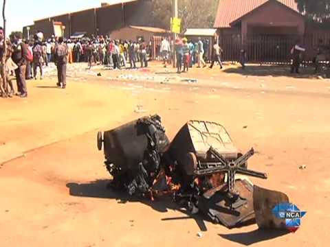 Download Bekkersdal residents protest poor waste collections infrastructure