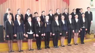 "Ozinky's kids music school concert hall, Russia.Chorus of ""ARIOZO""  awarded the 3rd degree laureate"