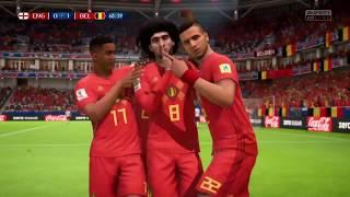 FIFA18 ベルギー代表 実際のスタメンでGSを戦う vsイングランド