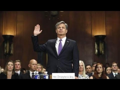 Breaking News:  FBI Director nominee Christopher Wray testifies at confirmation hearing. July 12, 2