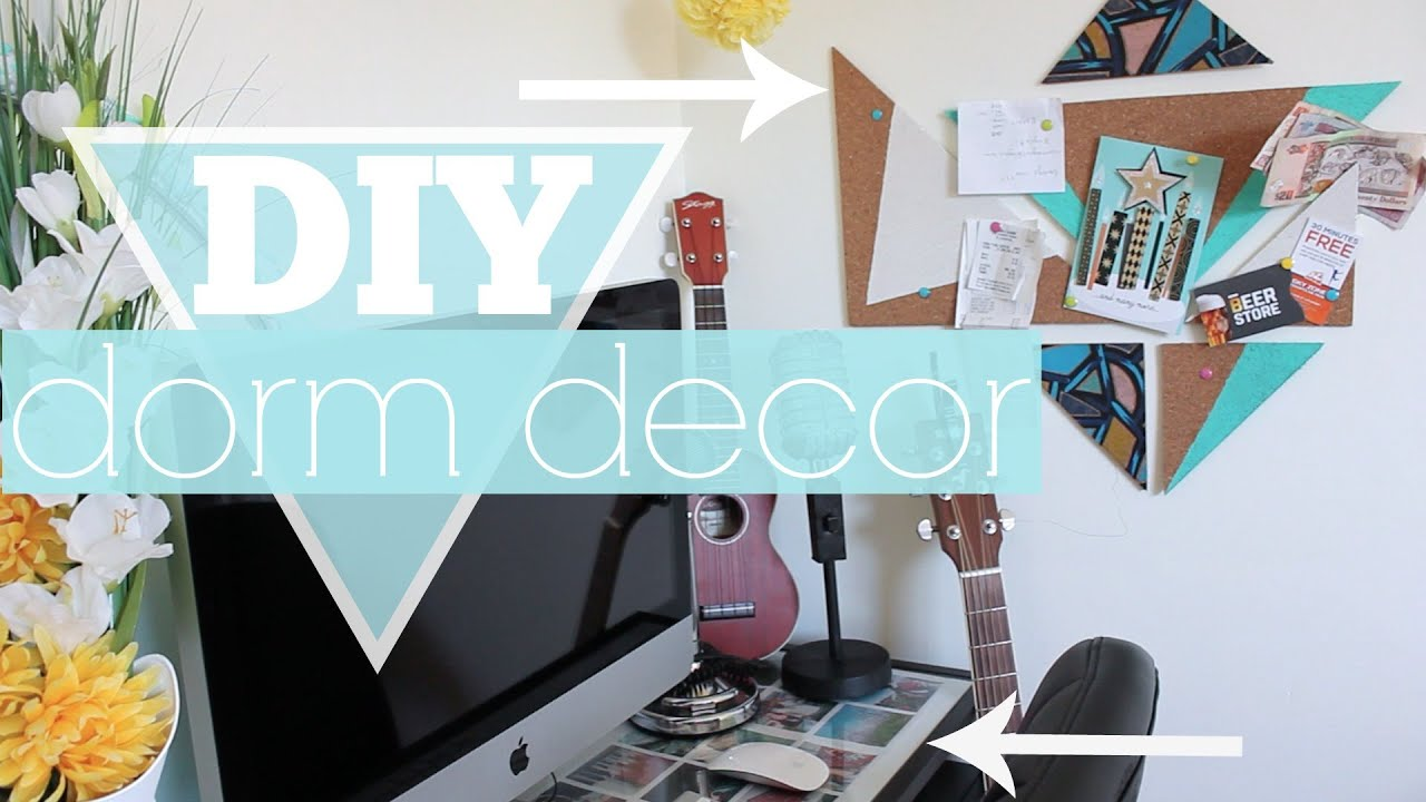 DIY Dorm Room Decor U0026 Organization   YouTube Part 49