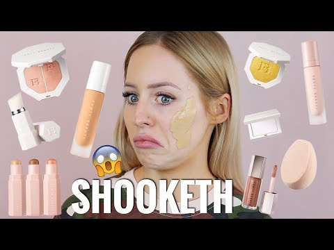 Thumbnail: FENTY BEAUTY FOUNDATION, PRIMER, CONTOUR, HIGHLIGHTER REVIEW.. I AM SHOOKETH | KASEY RAYTON