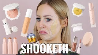 One of Kasey Rayton's most viewed videos: FENTY BEAUTY FOUNDATION, PRIMER, CONTOUR, HIGHLIGHTER REVIEW.. I AM SHOOKETH | KASEY RAYTON
