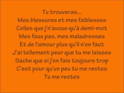 Tu trouveras-Natasha St-Pier Paroles