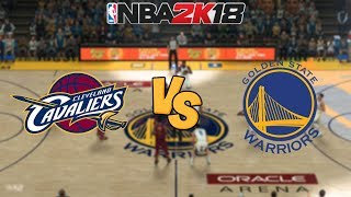 nba-2k18-cleveland-cavaliers-vs-golden-state-warriors-full-gameplay-updated-rosters