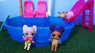 LOL SURPRISE DOLLS Go Swimming At The Neighborhood Pool!