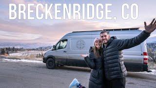 Exploring Breckenridge In The Winter And Snowboarding A-Basin - Colorado Winter Vanlife - Ep 28