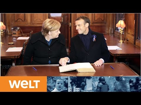 HISTORISCHE GESTE: Merkel und Macron erinnern an Weltkriegsende
