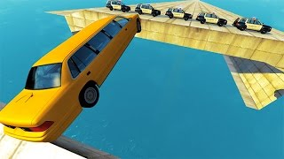 Open Bridge Jumping Car Crashes #2 BeamNG.drive