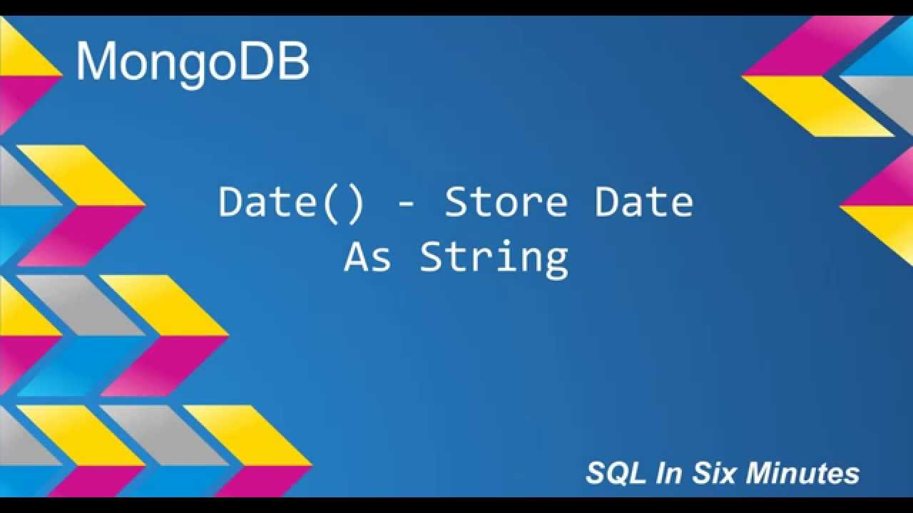 MongoDB: Date() - Store Date As String
