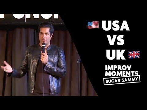 USA vs UK : Sugar Sammy improv moment
