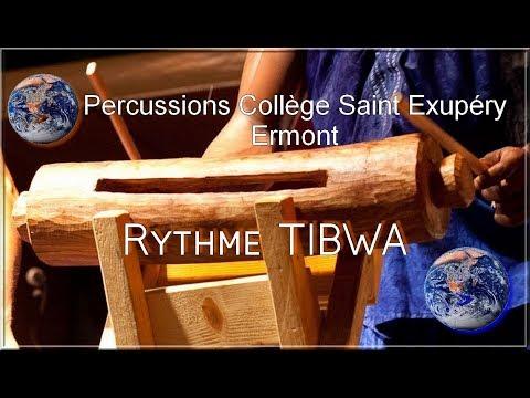 Percussions Rythme Tibwa. Collège Saint-Exupéry Ermont.