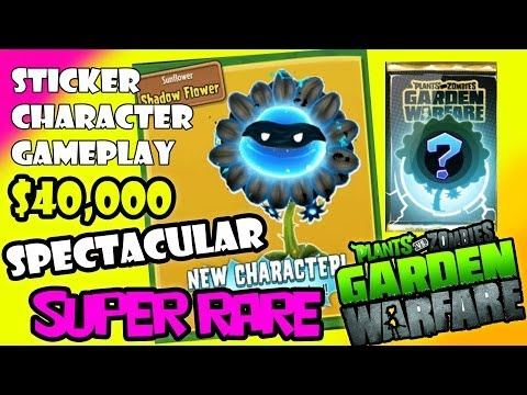 Super Rare Character Unlocked - Plants vs. Zombies Garden Warfare Sticker Book