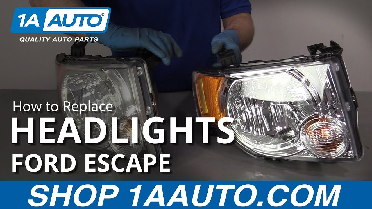 How To Replace Headlights 08 12 Ford Escape