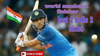 World number one finisher MS Dhoni great batsman| ritik sports moment 🇮🇳