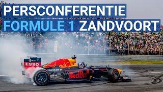 Persconferentie: Formule 1 terug op circuit Zandvoort