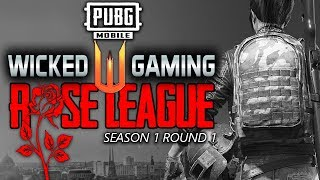 ROSE LEAGUE S1R1 - FEMALE PRO LEAGUE - ft. BLACK ANGELS, RK, FL, HMRS, G25 | PUBG MOBILE