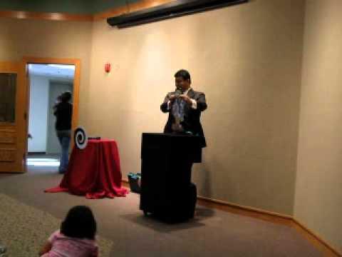 Magician visits Morton James Public Library