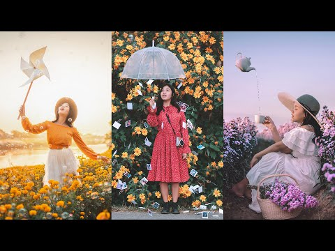 How to Creative Shoot Flower Portrait Ideas. ?? (Easy Photography Ideas)