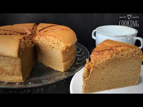 ชิฟฟ่อนกาแฟ สูตรเนื้อเค้กนุ่ม เด้ง ละลายในปาก สอนทำชิฟฟ่อน  Coffee Chiffon Cake