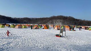 速報‼️「網走湖オープン初日にワカサギ釣り」網走湖ワカサギ釣り
