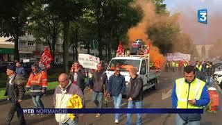 Rouen : mobilisation au départ de la manif du 12 septembre 2017