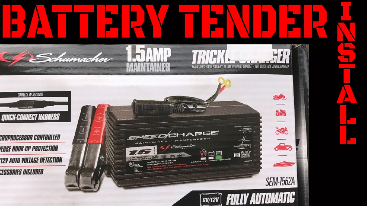 Battery Tender Maintainer Trickle Charger Installation Video Youtube Porsche 356 Wiring Diagram