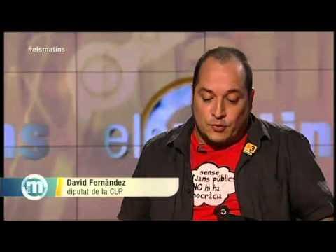 """David Fernàndez CUP-AE: """"La setmana que ve a Narcís Serra també li penso dir lladre"""""""