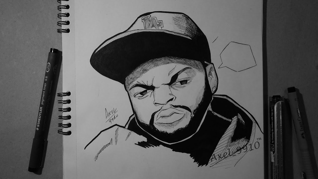 Speed Drawing #16 / ICE CUBE [CARTOON FAN-ART] - YouTube