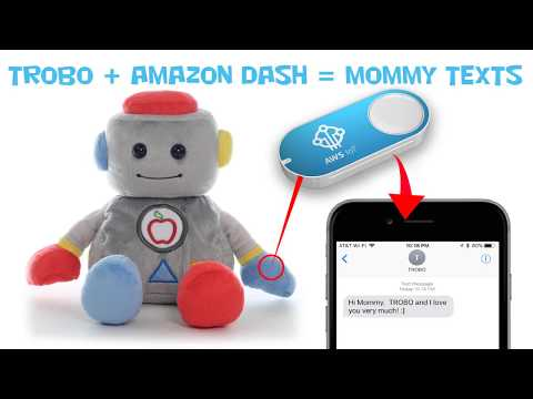 Plush Toy Can Text Mommy (using Amazon IOT Dash Button And AWS Lambda)
